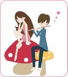 αγάπη κοριτσιών αγοριών απεικόνιση αποθεμάτων