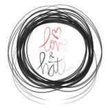 Αγάπη & μίσος ελεύθερη απεικόνιση δικαιώματος