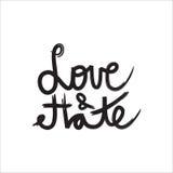 Αγάπη & μίσος διανυσματική απεικόνιση