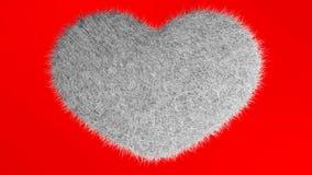 Αγάπη, μαλακή άσπρη καρδιά Απεικόνιση αποθεμάτων