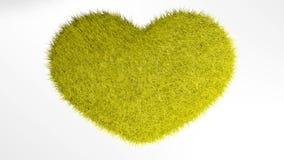 Αγάπη, μαλακή κίτρινη καρδιά Στοκ Εικόνες
