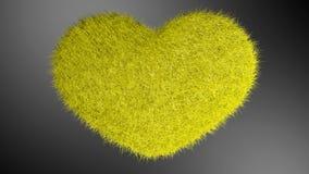Αγάπη, μαλακή κίτρινη καρδιά Ελεύθερη απεικόνιση δικαιώματος