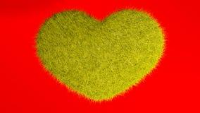 Αγάπη, μαλακή κίτρινη καρδιά Στοκ εικόνα με δικαίωμα ελεύθερης χρήσης