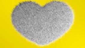 Αγάπη, μαλακή καρδιά whait Απεικόνιση αποθεμάτων