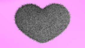 Αγάπη, μαλακή μαύρη καρδιά Ελεύθερη απεικόνιση δικαιώματος