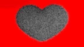 Αγάπη, μαλακή μαύρη καρδιά Διανυσματική απεικόνιση