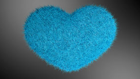 Αγάπη, μαλακή μπλε καρδιά Διανυσματική απεικόνιση