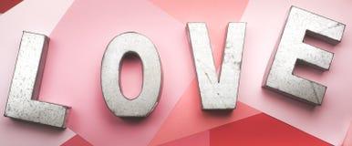 Αγάπη μετάλλων Στοκ φωτογραφίες με δικαίωμα ελεύθερης χρήσης
