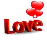 Αγάπη με τις καρδιές Στοκ εικόνα με δικαίωμα ελεύθερης χρήσης