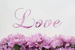 Αγάπη με το σχέδιο λουλουδιών Στοκ Εικόνα