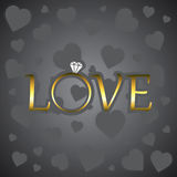 Αγάπη με το χρυσό δαχτυλίδι Στοκ Εικόνες