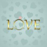 Αγάπη με το χρυσό δαχτυλίδι Στοκ φωτογραφία με δικαίωμα ελεύθερης χρήσης
