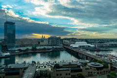 Αγάπη μου λιμάνι Σίδνεϊ Αυστραλία στο ηλιοβασίλεμα Στοκ Εικόνες