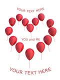 αγάπη μπαλονιών Διανυσματική απεικόνιση