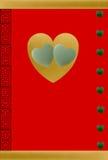 αγάπη νεφριτών καρδιών τυχ&epsilon Στοκ Εικόνα