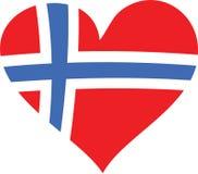 αγάπη Νορβηγία απεικόνιση αποθεμάτων
