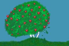 αγάπη οργανική διανυσματική απεικόνιση