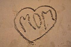 αγάπη παραλιών mom Στοκ εικόνες με δικαίωμα ελεύθερης χρήσης