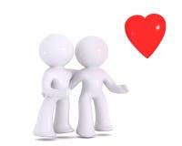 αγάπη που προσέχει έξω Διανυσματική απεικόνιση