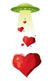 αγάπη που στέλνει το ufo Στοκ φωτογραφία με δικαίωμα ελεύθερης χρήσης