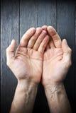 Αγάπη προσοχής χεριών βοήθειας Στοκ Φωτογραφίες