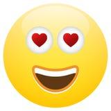Αγάπη προσώπου Smiley Emoticon Στοκ εικόνες με δικαίωμα ελεύθερης χρήσης