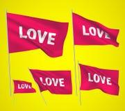 Αγάπη - ρόδινες διανυσματικές σημαίες Στοκ Φωτογραφίες