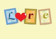 Αγάπη στα πλαίσια Στοκ εικόνα με δικαίωμα ελεύθερης χρήσης