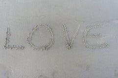 Αγάπη στην άμμο Στοκ φωτογραφίες με δικαίωμα ελεύθερης χρήσης