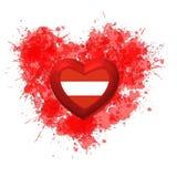 Αγάπη στην Αυστρία πέρα από την κόκκινη καρδιά Στοκ Εικόνα