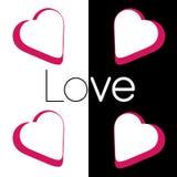 Αγάπη στο λευκό Μαύρο απεικόνιση αποθεμάτων