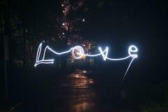 Αγάπη στο freezelight στοκ φωτογραφία με δικαίωμα ελεύθερης χρήσης
