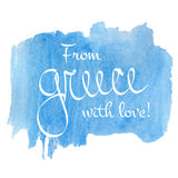 Αγάπη της Ελλάδας Στοκ Εικόνα