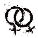 Αγάπη της ομοφυλοφιλικής γυναίκας Στοκ Εικόνες