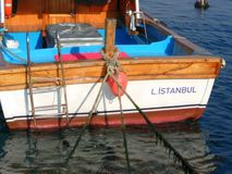 Αγάπη της Τουρκίας βαρκών Goldenhorn Στοκ εικόνες με δικαίωμα ελεύθερης χρήσης