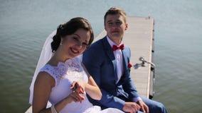 Αγάπη φαντασίας newlyweds απόθεμα βίντεο
