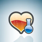 αγάπη χημείας απεικόνιση αποθεμάτων