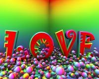 αγάπη χρώματος φυσήματος Στοκ Φωτογραφίες