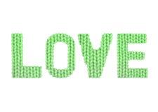 Αγάπη Χρώμα πράσινο Στοκ Εικόνες