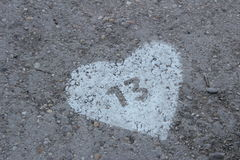 13 αγάπη Στοκ εικόνα με δικαίωμα ελεύθερης χρήσης