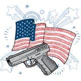 Αγάπη America για το διάνυσμα πυροβόλων όπλων Στοκ φωτογραφία με δικαίωμα ελεύθερης χρήσης
