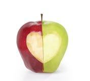 Αγάπη Apple μορφής καρδιών Στοκ φωτογραφίες με δικαίωμα ελεύθερης χρήσης