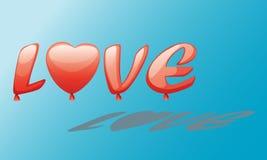 Αγάπη baloon Στοκ εικόνες με δικαίωμα ελεύθερης χρήσης