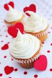 Αγάπη cupcake Στοκ Εικόνα