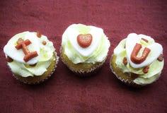 Αγάπη cupcake Στοκ Εικόνες
