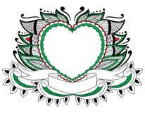 Αγάπη Doodle με στο φύλλο απεικόνιση αποθεμάτων