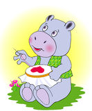 αγάπη hippopotamus Στοκ Φωτογραφία
