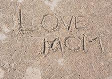 Αγάπη mom Στοκ εικόνες με δικαίωμα ελεύθερης χρήσης