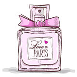 Αγάπη Parfume στο Παρίσι απεικόνιση αποθεμάτων
