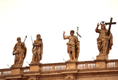 Αγάλματα αποστόλων απελευθερωτών Χριστού στοκ φωτογραφίες